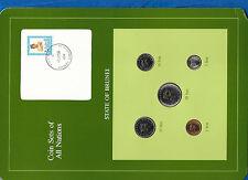 Coin Sets of All Nations Brunei UNC 50,20 Sen 1985 5,1 Sen 1984 20 Sen 1987