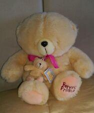 Lovely condition Forever Friends Bear & keyring 35cm + 9cm