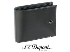 NIB S.T. Dupont 180590 Line D Grey/Blue Leather Men Billfold Wallet