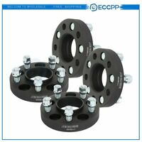 """4X 1"""" (25mm) 5x4.5 wheel spacers black 70.5 mm 14x1.5 for Ford Mustang"""