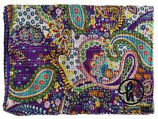 New Desing Indian Cotton Handmade Kantha Quilt Bedspread Throw Bedding Bed Cover