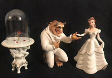 Lenox Beauty and the Beast w/ Enchanted Rose Belle Disney Showcase Figurine Lot