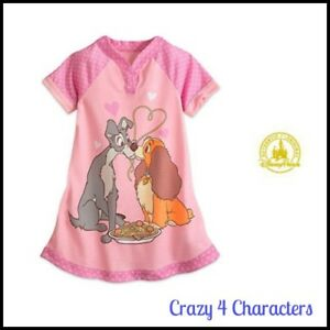 Disney Store Licensed Lady & The Tramp Nighty Nightie Size 5 6 Christmas Party