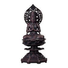 Mahasthamaprapta (Seishi Bosatsu) : Japanese Bronze Statue w paulownia wood box