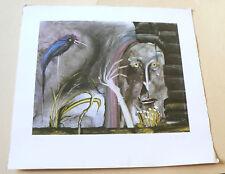 """Manfred Reusing (Mares) - Kunstdruck - """"Hexe und Vogel"""" - signiert/nummeriert"""