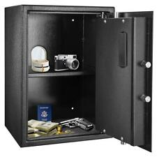 New Digital Safe Box Shotgun Security Cabinet Double-deck Cash Gun Money Home US