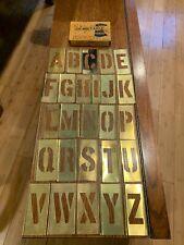 "Vintage Reeses Adjustable Interlocking Letter Alphabet Stencils 3"""