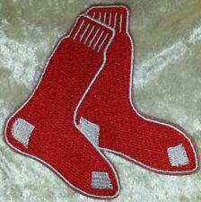 """Boston Red Sox Socks 3.5"""" Iron On Embroidered Patch ~FREE SHIP!~"""