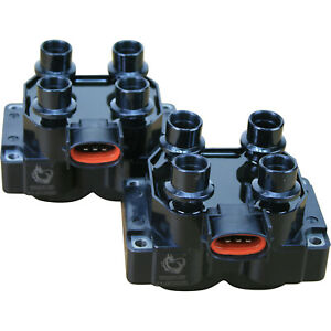 Dragon Fire 2pc Ignition Coil Pack Set For 91-97 Ford Lincoln Mercury 4.6 5.0 V8