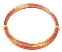 Copper Wire 14 Ga Round  HALF HARD 2 Oz. 11 Ft. Coil Solid bare Copper