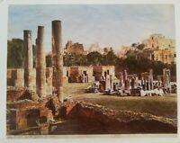 Foto al bromuro del Tempio di Serapide 1890 (P158) Come da foto (le dimensioni s