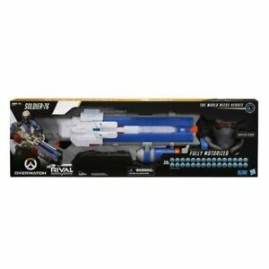 Overwatch Soldier: 76 Nerf Rival Blaster 30+ inch gun With TARGETING VISOR NEW