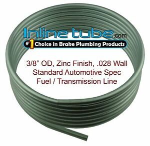 "OE Zinc Automotive Steel Brake Fuel Transmission Line Tubing 3/8"" OD Coil Roll"