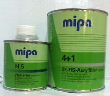 MIPA 4+1 Acrylfiller High Build Primer 1L Activator H5 0.25L 2k 2 pack 4 + 1