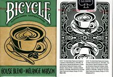 House Blend Green Bicycle Playing Cards Poker Size Deck USPCC Custom Limited New