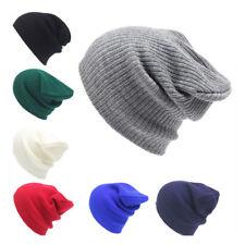 Winter Unisex Plain Beanie Warm Ski Cap Winter Knitting Hat Cap Solid Hip Hop