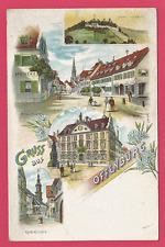 Offenburg - Mittlere Hauptstrasse, Schloss, Rathaus u. Kath.Kirche - ungel. 1902