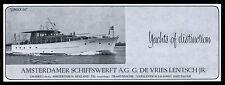Werbung 1966 JIMAX III Amstadamer Schiffswerft (2) G. de Vries Lentsch Holland