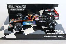 1:43 TYRRELL FORD 012 STEFAN BELLOF MONACO GP 1984 f1 PMA MINICHAMPS NUOVO OVP