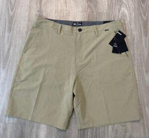 "NEW NWT Mens Hurley Phantom Size 38 - 20"" Walkshorts 895086-235 Khaki Beige"