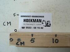 STICKER,DECAL HOEKMAN GRONDVERZET EN KRAANVERHUUR LUTTEN GRAAFMACHINE
