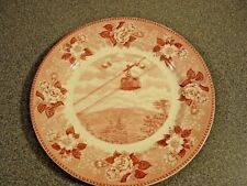 Old English Staffordshire Ware Franconia Notch N.H. Red Plate Aerial Tramway