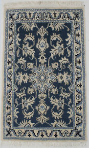 Hand Knotted Classic Floral Design 2X3 Small Size Rug Oriental Home Decor Carpet