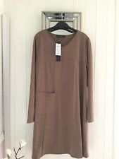"ZANZEA COLLECTION"" NEW WITH TAG LIGHT BROWN DRESS SIZE  L ( underarm 20"" )"