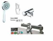 Bathroom Thermostatic Bath Shower Mixer Valve deck or wall mounted with full kit