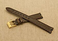 New Gucci 13 MM Brown Lizard Pattern Watch Band -  (13.110) - For 3400 L