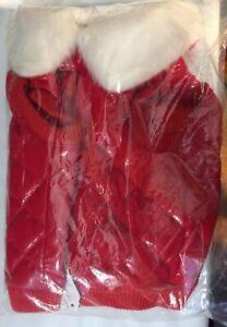 Snooty Dog Ski Vest Soft Fau Shiny Leather Fur Lined Hood Poly Lining 10-14 inch