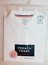French Toast Solid White Uniform Polo Shirt Top Blouse Girls Size Xs 4-5 New