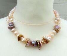 Collares y colgantes de joyería rosa natural