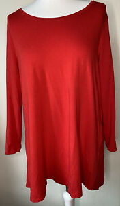 Phase Eight Red Jersey Tunic Top Size 16 Stretch Flattering Lagenlook Worn Once