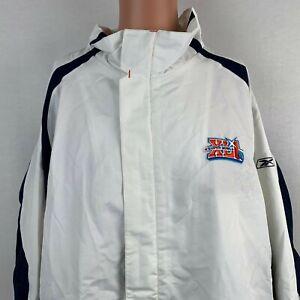 Reebok NFL Super Bowl XLI Windbreaker Jacket Indianapolis Colts 2007 Sewn 2XL
