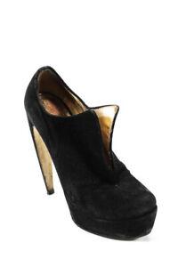 Walter Steiger Womens Suede Platform Ankle Booties Black Size 9