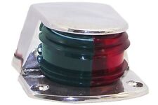 SMALL boating bow light combo red green chrome boat navigation marine SL52093