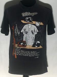 Vtg 1991 Chicago White Sox MLB Baseball Team Locker Room Nutmeg Large T-shirt