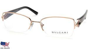 Brand NEW BVLGARI 2157-B 376 GOLD EYEGLASSES Frame 53-17-135 B35 mm Italy