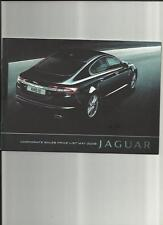UNUSUAL JAGUAR X TYPE, XF, XK & XJ PRICES, COMPARISONS COMPANY CAR BROCHURE 2009
