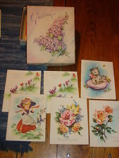 Vintage BOXED GREETING CARDS *6* THANK YOU Cards