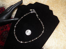 Nice Tres Jolie Nordstrom sterling Bali beads faceted smoky quartz  necklace