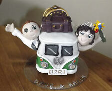 Personalised Polymer Clay Cake Topper - VW Campervan