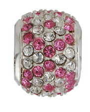 Amore & Baci Pave Bead Sterling Silver