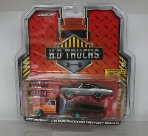 CHASE Greenlight HD Trucks Series 12 Chevy C30 Ramp Truck & Impala Green Machine