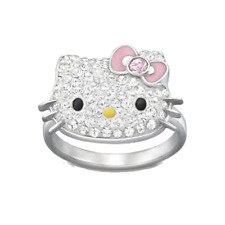 Swarovski  Hello Kitty ring Cute    New 55   5013203