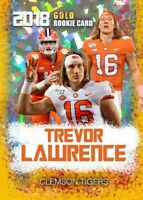 2018 TREVOR LAWRENCE FIRST EVER CRACKED ICE GOLD ROOKIE GEMS ROOKIE CARD CLEMSON