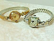 Bulova & Hamilton Self Winding Watches Lady's Gold Filled Two For Parts