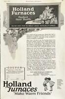 1927 Holland Furnaces Holland Michigan Print Ad Make Warm Friends