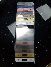 3D COUVERTURE complet Samsung S7 SM-G930F verre blindé métal bord trempé doré